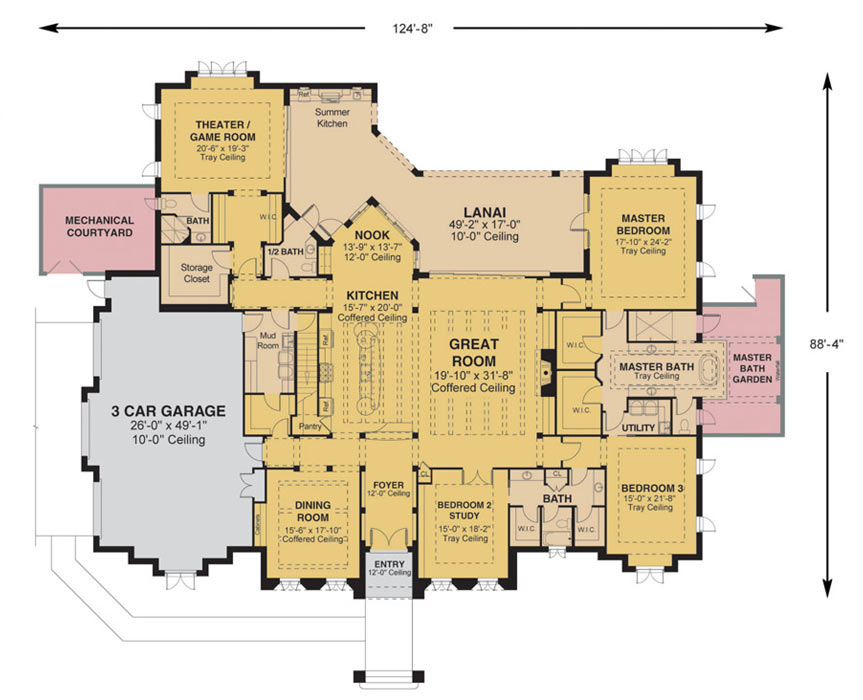 Morgan custom home floor plan ocala fl for Custom home plans florida