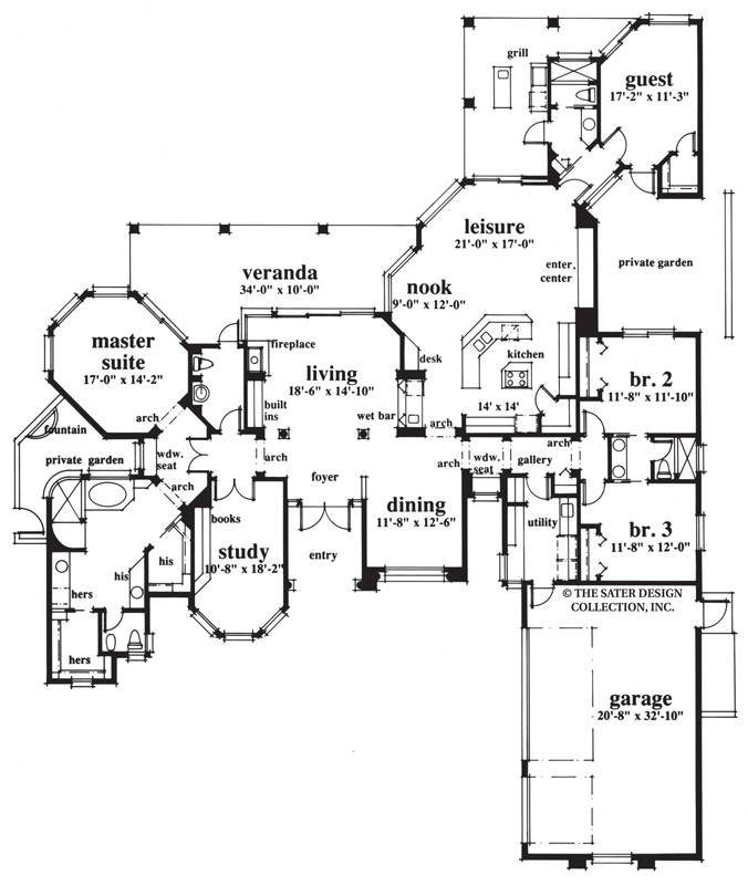 spring hill home plan floor plan - Custom Floor Plans