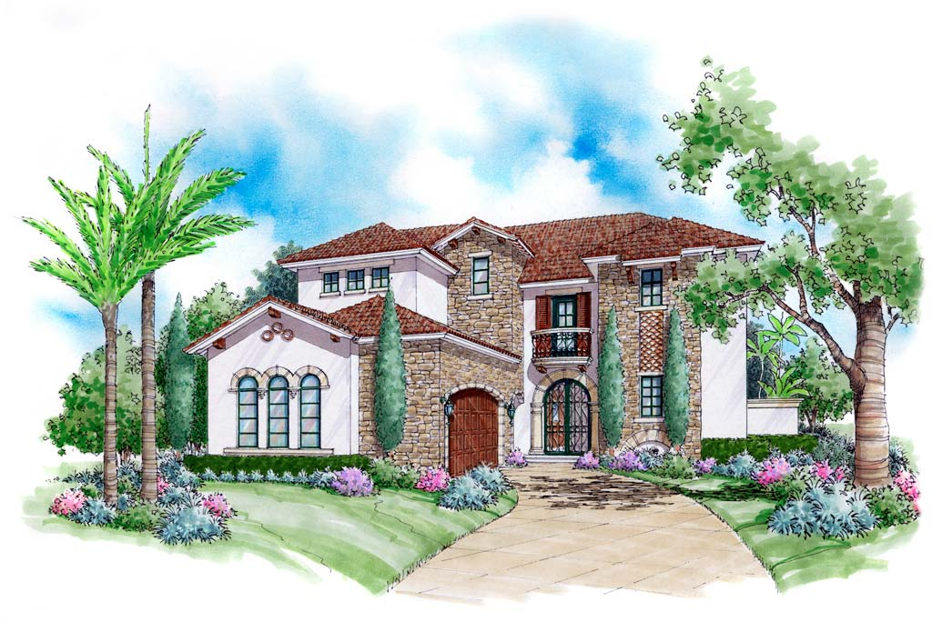 Ferretti Home Plan 6786 Sater Design Nadeau Stout